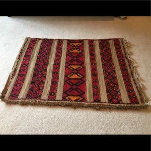 Large Moroccan 🇲🇦Straw & Wool Doormat *New*